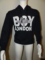 Neuer Boy London Hoodie Pullover Gr. S Schwarz Vorne Großes Logo Unisex NEU/OVP