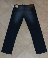 Guess Lincoln Men's Stretch Slim Straight Jeans in Dark Amble NEW 31x30