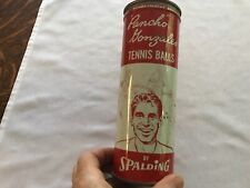 Pancho Gonzalez Tennis Balls Vintage Can By Spalding With 3 Balls