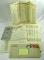 Pennsylvania Manufacturers' Insurance Co. 1919 Letterhead Charts & Booklet