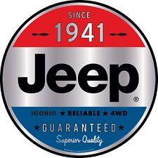 "Jeep USA Wrangler 1941 Iconic 4WD Embossed Tin Metal Sign 13.75"" x 18.5"""