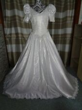 (18)Edles Damen Braut Standesamt Abend Kleid GR: GR: 42
