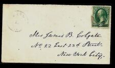 "Fancy Cancel Cover~New London ""NL"" Monogram~Cole #ML-74"