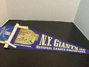 New York Giants Polo grounds 1937 World Champions Mitchell & Ness pennant.