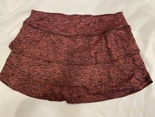 Zelos Spacedye Tiered Skort/Skirt Size Large For Tennis/Golf In Pink/Black