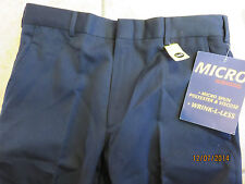 NWT BILL BLASS Navy Dress Men's Slacks Pants s 32 65% polyester 35% viscose  $60