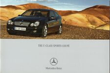Mercedes C-Class Sports Coupe Sales Brochure Soft Cover Book Type dated 2003 NEW