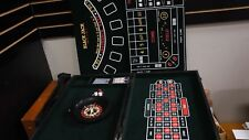 BRAND NEW- Casino Gambling Set Roulette Craps Blackjack Poker Cards and Chips