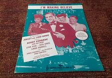 I'm Making Believe Benny Goodman Sweet and Lowdown 1944 movie sheet music EX