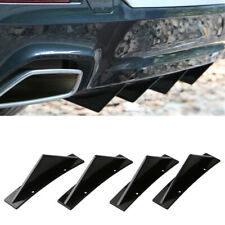 4x Car SUV Rear Bumper Diffuser Curved Shark Fin Spoiler Protector Universal