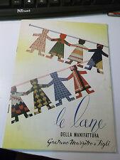 DEPLIANT LE LANE GAETANO MARZOTTO E FIGLI 1956 + INSERTO VALDAGNO VICENZA L-5