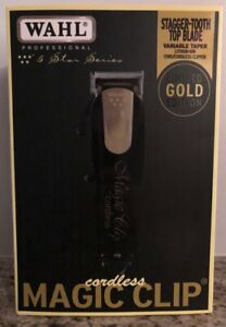 Wahl 8148 Professional 5-Star Limited Edition Black & Gold Cordless Magic Clip