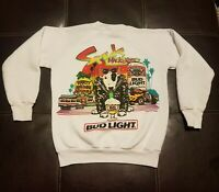 Vintage 1987 Spuds Mackenzie Bud Light  Sweatshirt  Hot Rod Diner