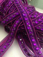 18mm púrpura del Rhinestone del grano Cinta Ribete de Encaje para la elaboración de multi propósito 1 yardas