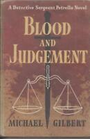 CRIME / hardcover/dust jacket , BLOOD AND JUDGEMENT by MICHAEL GILBERT 1959