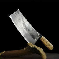 Handmade Carbon Forged Steel Butcher Knife Meat Beef Slicing Cleaver Chef Knives