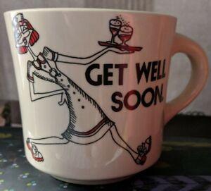 Vintage Barbara Jo Slate Inc Ms Liz Get Well Soon mug M109