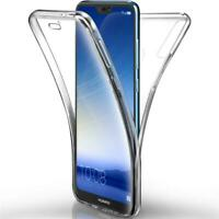 Huawei P Smart /2019 Handy Hülle Full Case Cover Silikon Schutzhülle Transparent