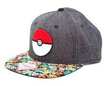Bioworld Pokemon Snap Back Baseball Cap Poke Ball