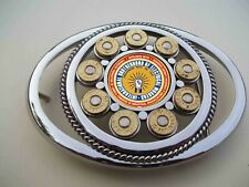 shells and international electrician center stainless steel belt buckle with 357