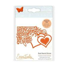 Tonic Studios Dual Hearts Corner 2 Pc Die Set Valentine Wedding, Love Cardmaking