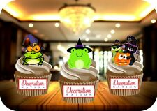 Halloween Toad Mix 12 Edible STANDUP Cake Topper Decoration Spooky Scary Witch