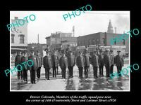OLD LARGE HISTORIC PHOTO OF DENVER COLORADO, THE POLICE TRAFFIC SQUAD c1920