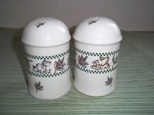 """Large Disney Stoneware Winnie The Pooh Round, Salt and Pepper Shakers, 4 1/2 """""""