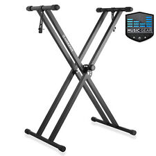 Premium Heavy Duty Double Braced Adjustable Piano Keyboard Stand