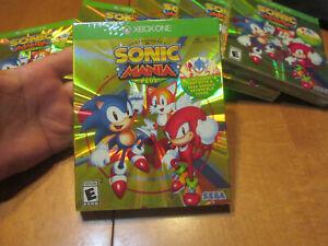 Sonic Mania Plus XBOX ONE LAUNCH EDITION W/ ARTBOOK SEGA NEW SEALED