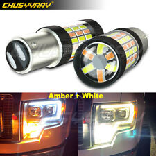 For Honda Accord 2005-2013 2×LED Front Turn Signal Parking Dual DRL Light Bulb