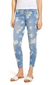 HUE tropical orchid floral vintage ultra soft denim high waist skimmer leggings