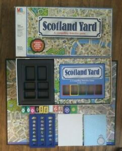 1985 SCOTLAND YARD DETECTIVE BOARD GAME MILTON BRADLEY