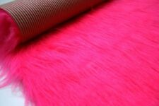 Long Pile Faux Fur Fabric Sheepskin Rug 140cm x 70cm CERISE
