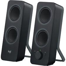 """Logitech Computer Speakers w/Bluetooth 3-1/2""""x4-9/10""""x9-1/2"""" 2/ST BK 980001294"""