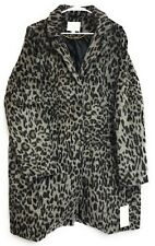 XXL Womens Leapord Animal Print Faux Fur Coat Overcoat A.N.D. New