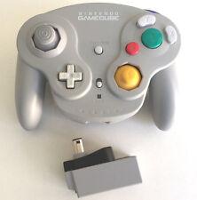 Gray Wavebird GameCube Wireless Controller and Receiver Nintendo DOL-004 DOL-005
