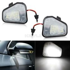 2pcs White 6000K Side Mirror Puddle Lights LED Lamp For VW CC Passat Scirocco