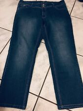 Angels Women's Size 20 Blue Boot Cut Mid Rise Stretch Cotton Blend Fly Zip Jeans