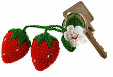 Cute Strawberries Crochet Pendant New Key Chain Strawberry Crocheted Children