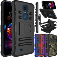 For LG Xpression Plus/Phoenix Plus Shockproof Clip Holster Stand Hard Case Cover