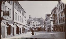 Suisse, Rorschach, rue marchande, 1911, Vintage citrate print vintage citrate pr