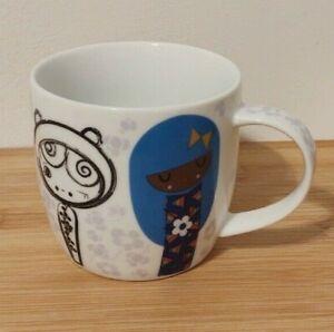 Japanese Kokeshi Doll Girl Paperchase Fine Porcelain Coffee Tea Cup Mug
