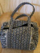 "VERA BRADLEY BLUE Duffle/Tote Bag Pocket and Zip Closure 15 1/2"" x 8"" x 8"""