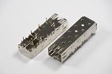 Lot of 2 74737-0010 Molex SFP Single Port Cage Connector 3.38mm Tail CopperAlloy