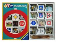 Altes Memory  120 Karten ( 60 Paare ) Lernspiel  Legespiel Verkehrszeichen