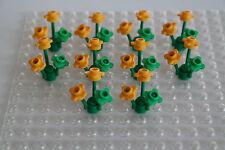 10 Lego Blumen Pflanzen Blüten hellorange hellgrün NEU