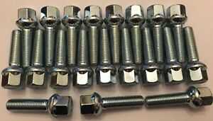 20 X M12X1.5 85mm LONG RADIUS 60mm THREAD ALLOY WHEEL BOLTS FIT MERCEDES 66.