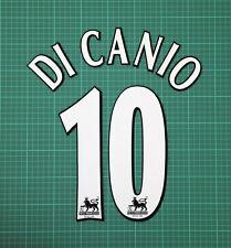 DI CANIO #10 1997-2006 Player Size Premier League White Nameset West Ham United