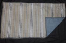 Nautica TWO King Pillow Shams STRIPED BLUE TAN GREY NEW!